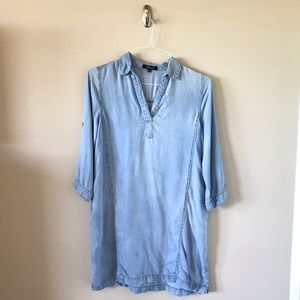 Denim ¾ inch sleeve Dress